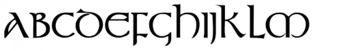 Durrow Bold Font LOWERCASE