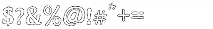 Duskey Outline Font OTHER CHARS