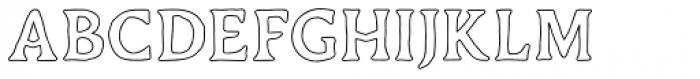 Duskey Outline Font LOWERCASE