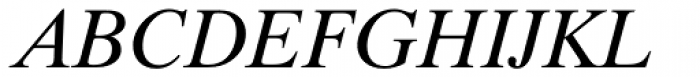 Dutch 801 Italic Font UPPERCASE