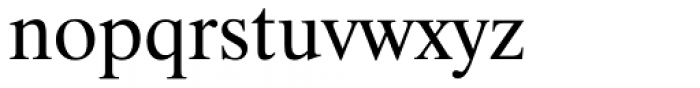 Dutch 801 WGL Roman Font LOWERCASE