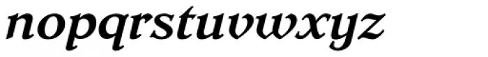 Dutch Mediaeval Pro ST Bold Italic Font LOWERCASE
