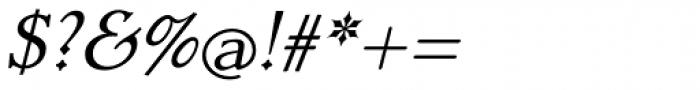 Dutch Mediaeval Pro ST Italic Font OTHER CHARS