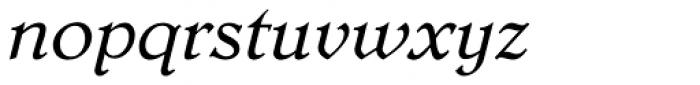 Dutch Mediaeval Pro ST Italic Font LOWERCASE