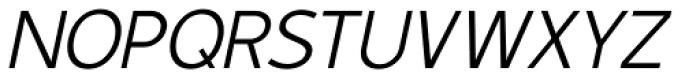 Duty Light Oblique Font UPPERCASE
