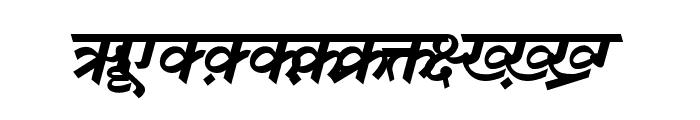 DV-TTSurekh Bold Italic Font UPPERCASE