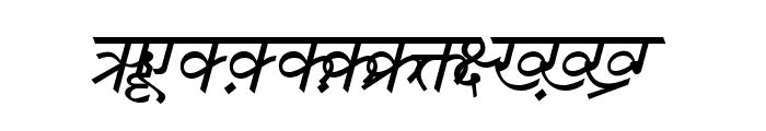 DV-TTSurekh Italic Font UPPERCASE