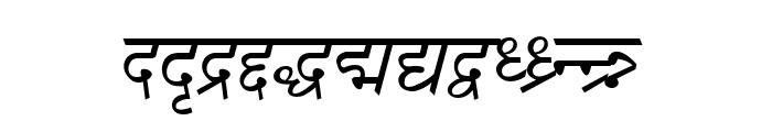 DV-TTSurekhEN-Italic Font LOWERCASE