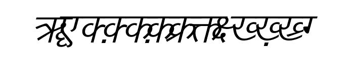 DV-TTYogeshEN Italic Font UPPERCASE