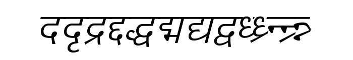 DV-TTYogeshEN Italic Font LOWERCASE