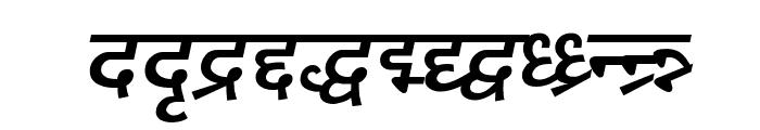 DV_Divyae Bold Italic Font LOWERCASE
