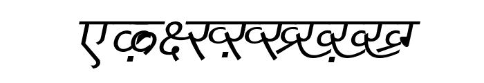 DV_Divyae Italic Font UPPERCASE