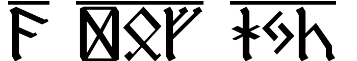 Dwarf Runes 1 Font UPPERCASE