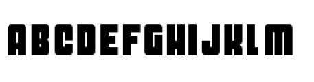Dynomite Thin Font UPPERCASE