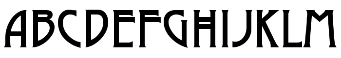 Dyer Arts and Crafts Font UPPERCASE