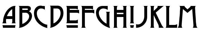 Dyer Arts and Crafts Font LOWERCASE