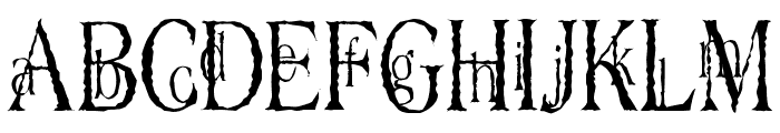 Dyers Eve Font LOWERCASE