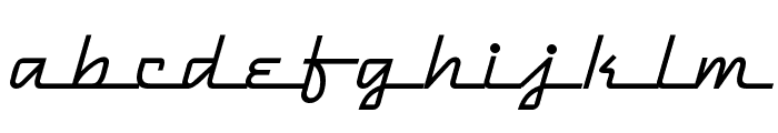 DymaxionScript Font LOWERCASE