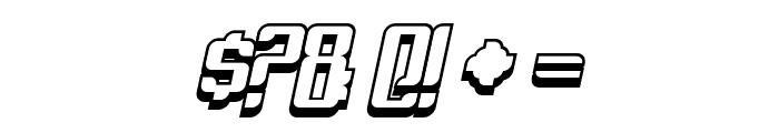 Dymeda Shadow Italic Font OTHER CHARS