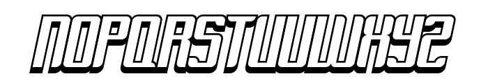 Dymeda Shadow Italic Font UPPERCASE
