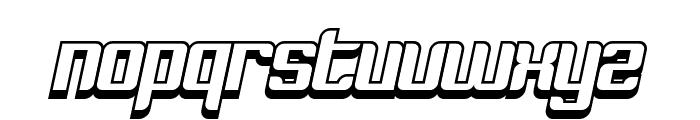 Dymeda Shadow Italic Font LOWERCASE