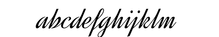 Dynalight-Regular Font LOWERCASE