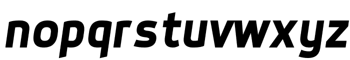 Dyno Bold Italic Font LOWERCASE