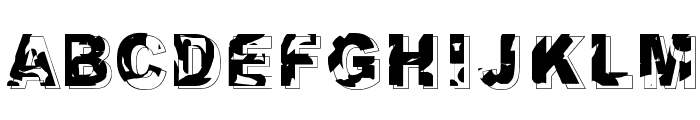 Dystopia Font UPPERCASE