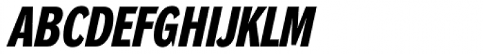 DynaGrotesk DC Bold Italic Font UPPERCASE