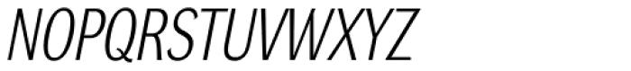 DynaGrotesk Pro 21 Italic Font UPPERCASE