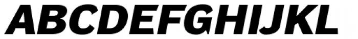 DynaGrotesk Pro 53 Bold Italic Font UPPERCASE