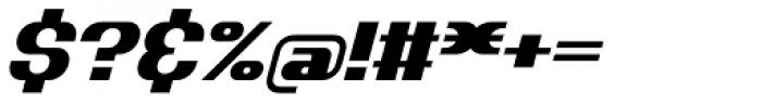 Dynamic Slanted BRKPro Font OTHER CHARS