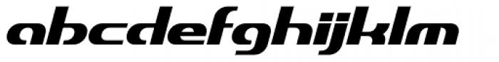 Dynamic Slanted BRKPro Font LOWERCASE