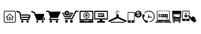 E-commerce Font UPPERCASE