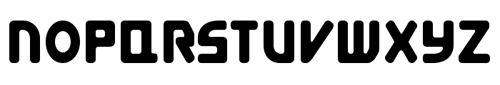 E4 Digital Condensed Font UPPERCASE