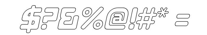 E4 Digital V2 Hollow Italic Font OTHER CHARS