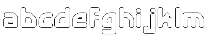 E4 Digital V2 Hollow Regular Font LOWERCASE