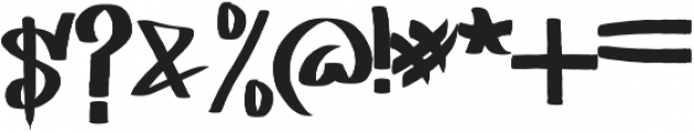 EAST COAST otf (400) Font OTHER CHARS