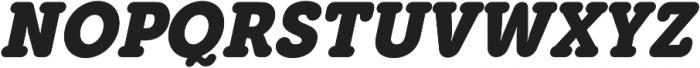 Eacologica Round Slab Bold Italic otf (700) Font UPPERCASE