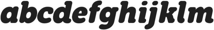 Eacologica Round Slab Bold Italic otf (700) Font LOWERCASE