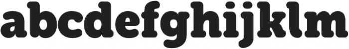 Eacologica Round Slab Bold otf (700) Font LOWERCASE