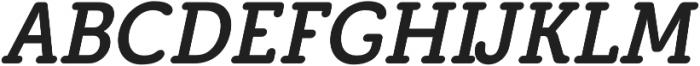 Eacologica Round Slab Italic otf (400) Font UPPERCASE