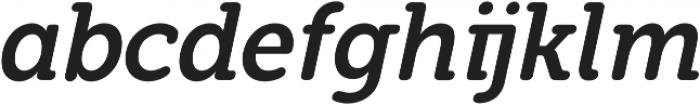 Eacologica Round Slab Italic otf (400) Font LOWERCASE