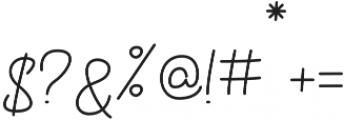 Eastpine otf (400) Font OTHER CHARS
