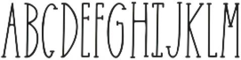 Easy Breezy Serif otf (400) Font UPPERCASE