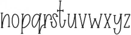 Easy Breezy Serif otf (400) Font LOWERCASE