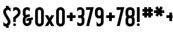 Earthman Basic BB  Bold Font OTHER CHARS