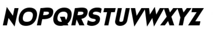 Earthman Heavy BB  Extended Italic Font UPPERCASE