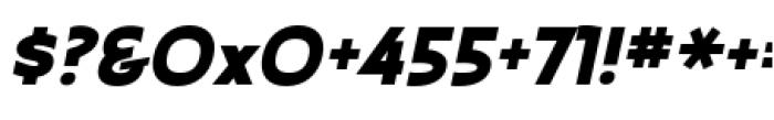 Earthman Heavy BB  Italic Font OTHER CHARS