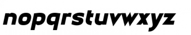 Earthman Heavy BB  Italic Font LOWERCASE